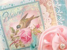 pink and aqua Card