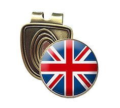 UK Golf Gear - UNION JACK FUSION CAP CLIP AND MAGNETIC GOLF BALL MARKER IN BRONZE BY ASBRI GOLF