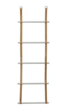 ferm LIVING / Závěsný věšák - žebřík Leather Ladder