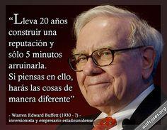 frases de Warren Edward Buffett (Omaha, 30 de agosto de 1930) es un inversionista y empresario estadounidense.