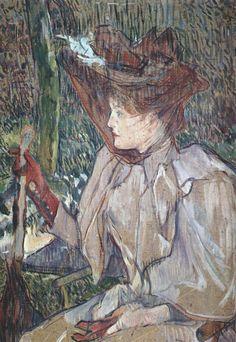 """Storia, descrizione, analisi e commento a un celebre quadro di Henri de Toulouse-Lautrec, dal titolo """"Donna con i guanti"""". Fu dipinto nel 1890 a Montmartre."""