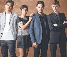 Ki Hong Lee, Roza Salazar, Dylan O'Brian and Thomas Brodie-Sangster