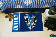 Dallas Mavericks Uniform Inspired Starter Rug