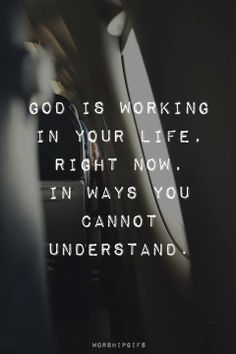 God is working in our lives, in ways we cannot understand   https://www.facebook.com/photo.php?fbid=10152170583026718