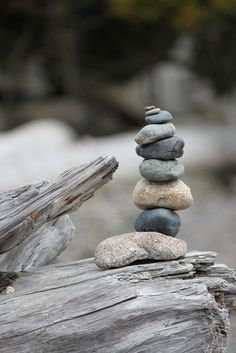 Stacking Stones Beach Photo  Fine Art by DearestWishPhotos on Etsy
