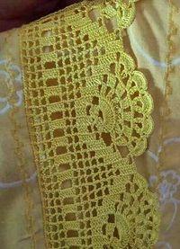 Ravelry: Filetstueck's Handkerchief / hanky in filet-crochet with scalloped edge Crochet Boarders, Crochet Edging Patterns, Crochet Lace Edging, Crochet Motifs, Crochet Diagram, Crochet Squares, Thread Crochet, Love Crochet, Filet Crochet