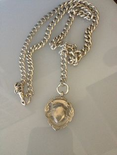 Heavy Silver Hallmarked Necklace from Antique by DayOldToyStore