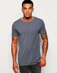 ASOS+Muscle+Fit+T-Shirt+With+Crew+Neck+And+Stretch