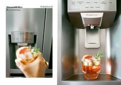 The LG InstaView Door-in-Door has a super sleek mirrored glass panel that illuminates with two quick knocks, allowing you to see inside the easy access compartment without ever opening the door, reducing cold air loss (and 32% energy savings – Energy Consumption Rate is always important, isn't it?!) to help keep food fresher longer. Jimsandkittys, Lisa-Marie Mewes, Tim Slotta, Louis Vuitton