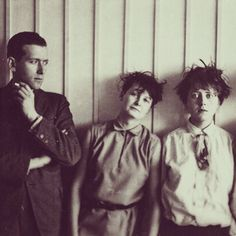 Marcel Breuer, Martha Erps, Katt Both, from the Bauhaus school in Dessau, 1927