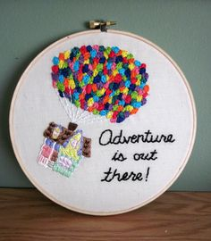 Up House Embroidery Hoop by ShannonSkies on Etsy--love!!
