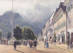 Rudolf von Alt - Die Esplanade in Ischl - 1840 - Rudolf Ritter von Alt - Wikimedia Commons