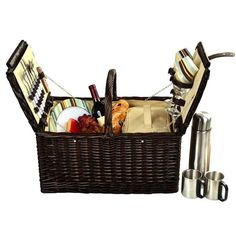Surrey Picnic Basket for 2 w/Coffee -Santa Cruz