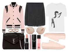 """street style"" by sisaez ❤ liked on Polyvore featuring Yves Saint Laurent, Smashbox, Too Faced Cosmetics, Christian Dior, Bobbi Brown Cosmetics, MAC Cosmetics and Michael Kors"
