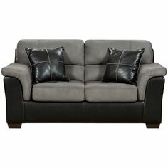 Exceptional Designs Laredo Graphite Microfiber Loveseat, 6202LAREDOGRAPHITE-GG by Flash Furniture | BizChair.com