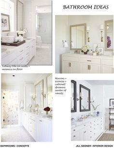 Pasadena House Bathroom Remodel Concept Board