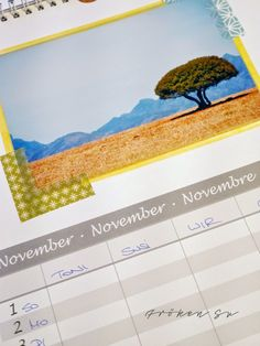 Fröken Su - Mein Kreativblog: Wandkalender zum Selbermachen