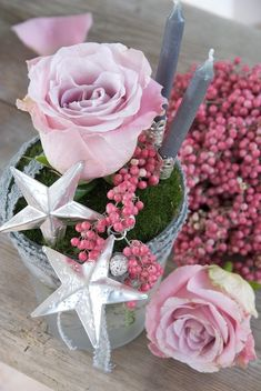 Winter | by Sonja Bannick Pictures - dusky pink, pale pink, silver, pewter & moss green