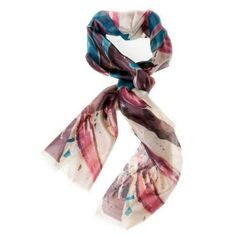 The Blake Collection Abstract Handpaint Design Silk Scarf