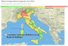 Visualizzazione interattiva dei consumi elettrici delle Regioni italiane. #opendata sui temi dell' #energia