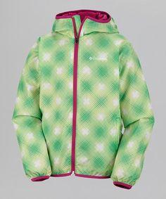 Columbia Winter Green Window Pane Pixel Grabber Jacket - Girls 5e927a187ce