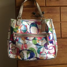 Coach bag brand new tag fell off New bag colorful authentic price firm 16x14x4 Coach Bags Totes