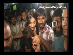sonam kapoor and dhanush mobbed by fans at chandan cinema.