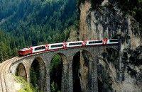 Swiss Resmikan Trowongan Kereta Api Terpanjang Dunia