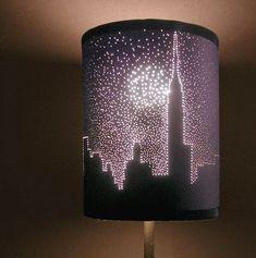 Dibujos en lámparas de papel