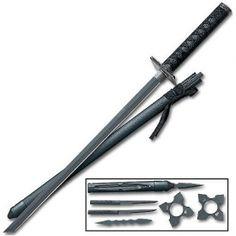 Ninja Swords - Ninjutsu Swords - Ninjitsu Sword All Items Zombie Apocalypse Weapons, Ninja Weapons, Weapons Guns, Ninja Gear, Cosplay Sword, Ninja Sword, Tactical Gloves, Sword Fight, Battle Axe