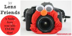 DIY Lens Friends! Helps get that magical smile from your child…AND it makes your camera look adorably cute!