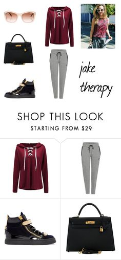 """9.1."" by ronniebenett ❤ liked on Polyvore featuring NIKE, Giuseppe Zanotti, Hermès and Chanel"