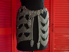 Custom Made Stainless Steel Chainmaille Hip Wrap by metalandthread, $6955.00