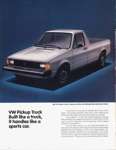 vw rabbit truck ad