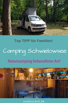 Camping Schwielowsee: loving nature camping in a fantastic location. Never before have we seen such loving details at a campsite. Perfect for families and camping with children. Camping Tours, Camping Glamping, Camping Site, Travel Around The World, Around The Worlds, Reisen In Europa, Campsite, Van Life, In The Heights