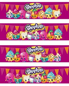 shopkins water bottle labels