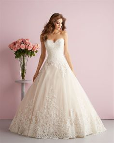 Allure Bridals : Romance Collection : Style 2701 : Available colours : White, Ivory, Champagne/Ivory