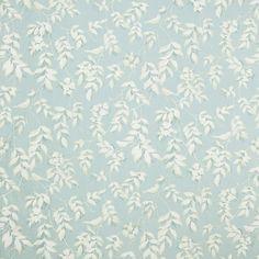 Laura Ashley Lockwood Print Cotton/Linen Curtain Fabric, Duck Egg