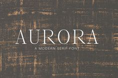 Aurora - Serif Font for Designers by themelissabee on @creativemarket