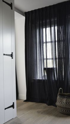 Home Living, Living Room, Apartment Curtains, Modern Window Treatments, Black Curtains, Fashion Room, Home Decor Inspiration, Master Bedroom, New Homes