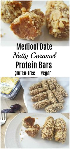 A Better Payday! 3 Ingredient Medjool Date Nutty Caramel Protein Bars - As sweetly delicious as the famous candy bar, these Medjool Date Nutty Caramel Protein Bars have only three ingredients, and they are gluten-free, dairy-free, and vegan. Healthy Superbowl Snacks, Healthy Protein Snacks, Healthy Bars, Healthy Slices, Breakfast Healthy, Protein Recipes, Healthy Sweets, Vegan Protein Bars, High Protein