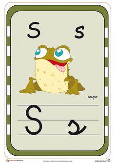 Tarjetas para aprender el abecedario y repasar las letras Activities For Kids, Peanuts Comics, Alphabet, Snoopy, Cool Stuff, Color, Fictional Characters, Dolls, Learning Letters