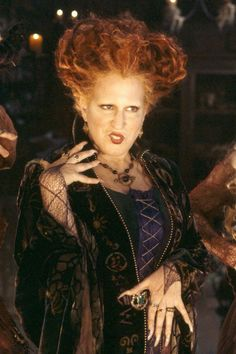 Hocus Pocus is easily one of the greatest aspects of Halloween. The beloved movie makes Salem, MA, look like the cozy-meets-creepy town of our dreams and Hocus Pocus Halloween Costumes, Halloween Movies, Disney Halloween, Halloween Makeup, Halloween Party, Halloween Stuff, Halloween Table, Halloween Signs, Witch Costumes