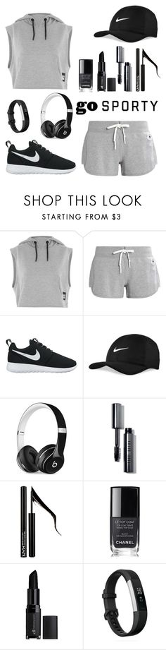 """Untitled #83"" by zouine-maroua ❤ liked on Polyvore featuring Topshop, Converse, NIKE, Beats by Dr. Dre, Bobbi Brown Cosmetics, Forever 21, Chanel, e.l.f. and Fitbit"