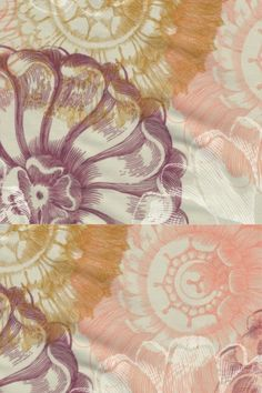 Prachtige vintage bloemenprint poplin van 100% gots biologisch katoen Vintage Flowers, Poplin, Tapestry, Painting, Tops, Decor, Art, Hanging Tapestry, Art Background