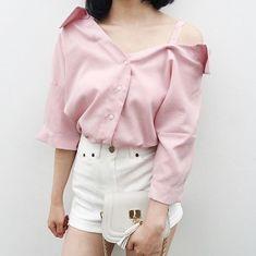 fashion, girl, and kfashion image Girl Outfits, Casual Outfits, Cute Outfits, Fashion Outfits, Kawaii Fashion, Korean Fashion, Ruffle Blouse, My Style, Pretty