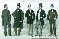 Victorian Mens Fashion, London Mens Fashion, Edwardian Era Fashion, Victorian Women, Men's Fashion, Fashion History, Victorian London, Victorian Era, London 1800