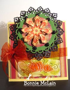 Beautiful teabag folding card
