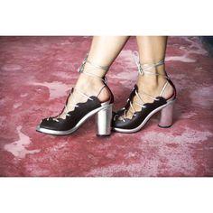 Zadie Heel by Preston Zly Design Stiletto Heels, High Heels, Metallic Shoes, Gold Leather, Preston, Brogues, Leather Sandals, Me Too Shoes, Kitten Heels