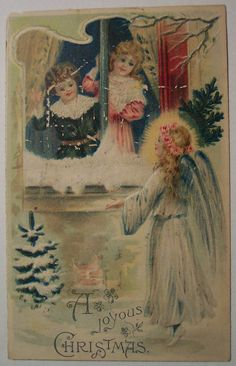 https://flic.kr/p/5GJKUM | Vintage Christmas Postcard - Angel